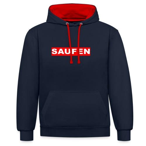 SAUFEN - Kontrast-Hoodie