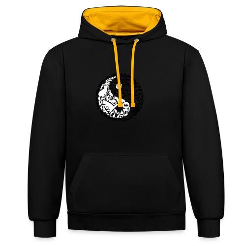 YinYang Cats - Kontrast-Hoodie