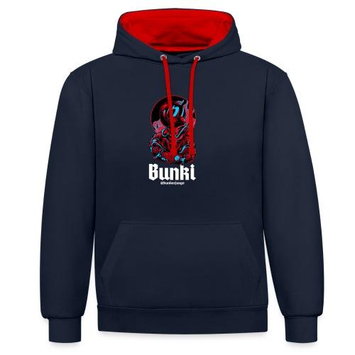 Bunki Logo - Kontrast-Hoodie