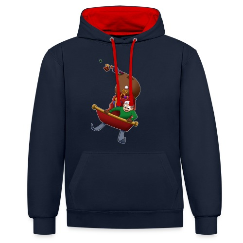 Davincstyle slee achtbaan - Contrast hoodie