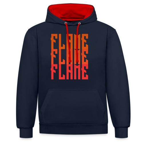 maglietta_flame_flame_flame - Felpa con cappuccio bicromatica