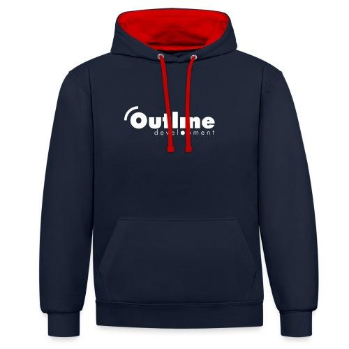 outline logo simple - Kontrast-Hoodie