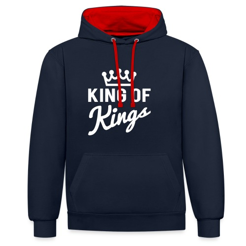 KING OF KINGS - Contrast Colour Hoodie
