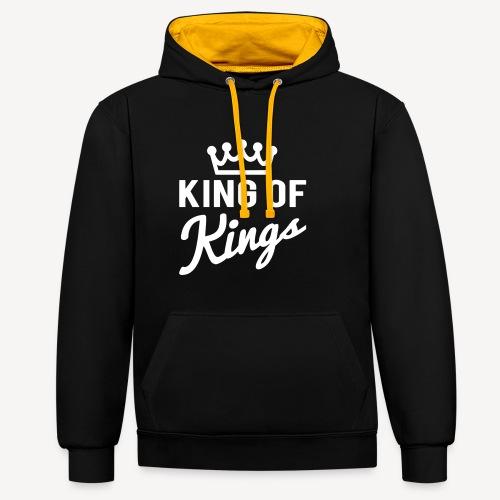 KING OF KINGS - Contrast Colour Hoodie