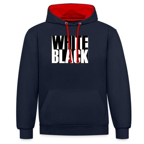 White, Black T-shirt - Contrast hoodie