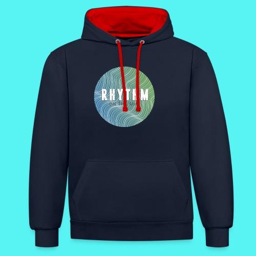 Rhythm On The Run Logo - Contrast Colour Hoodie