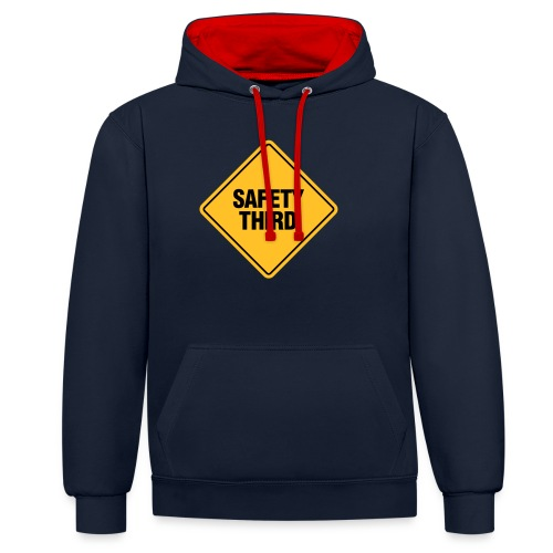 SAFETY THIRD - Contrast Colour Hoodie