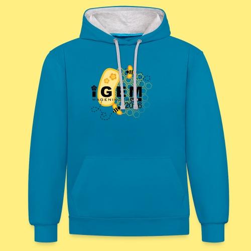Logo - shirt men - Contrast hoodie
