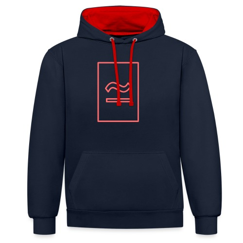 The Commercial Logo (Salmon Outline) - Contrast Colour Hoodie