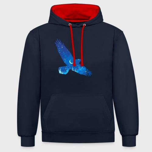 Oiseau Bleu d'hiver - Sweat-shirt contraste