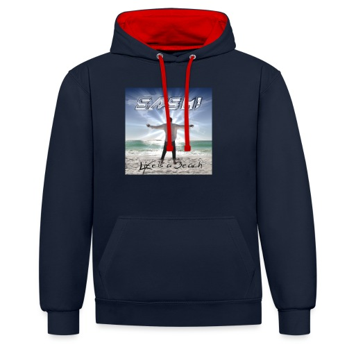 Life Is A Beach Cover - Contrast Colour Hoodie