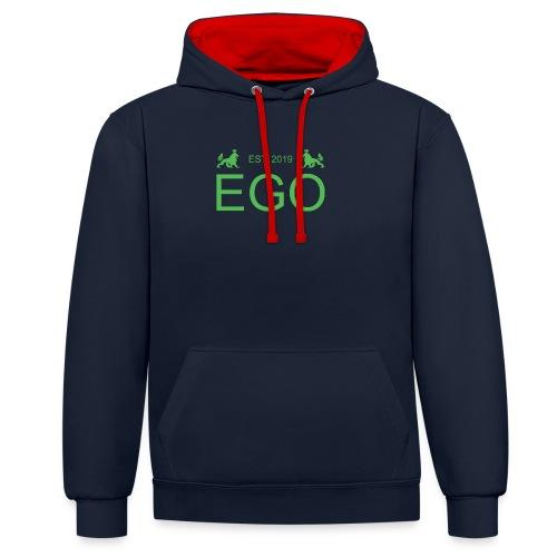 EGO Gruen - Kontrast-Hoodie