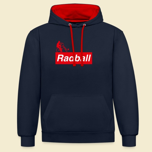 Radball | Red - Kontrast-Hoodie