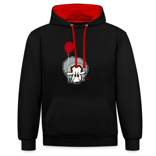 Evil Clown Sheep from IT - Contrast Colour Hoodie