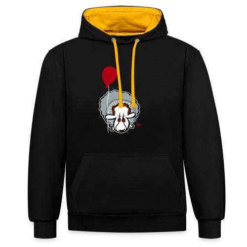 Evil Clown Sheep from IT - Sweat-shirt contraste