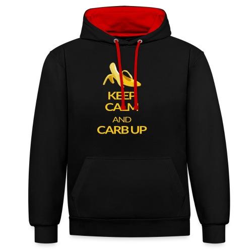 KEEP CALM and CARB UP - Kontrast-Hoodie