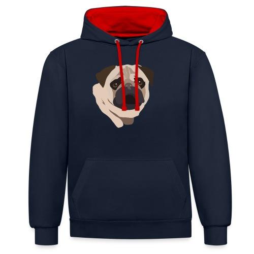 Pug Life - Contrast Colour Hoodie