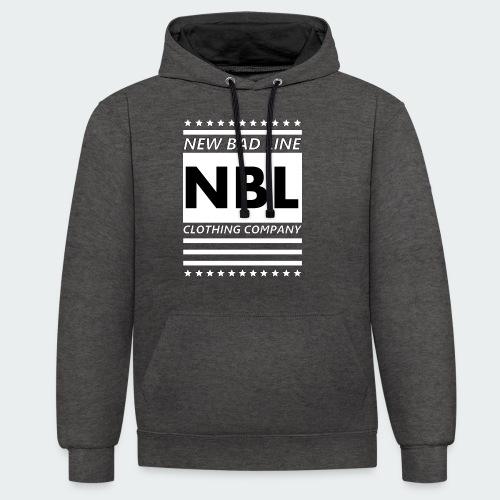Męska Koszulka Premium New Bad Line - Bluza z kapturem z kontrastowymi elementami