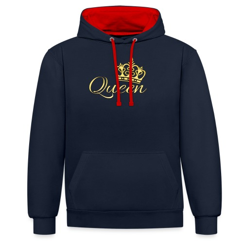 Queen Or -by- T-shirt chic et choc - Sweat-shirt contraste