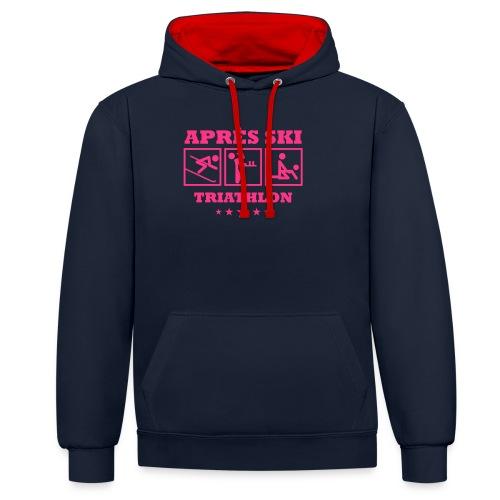 Apres Ski Triathlon | Apreski-Shirts gestalten - Kontrast-Hoodie