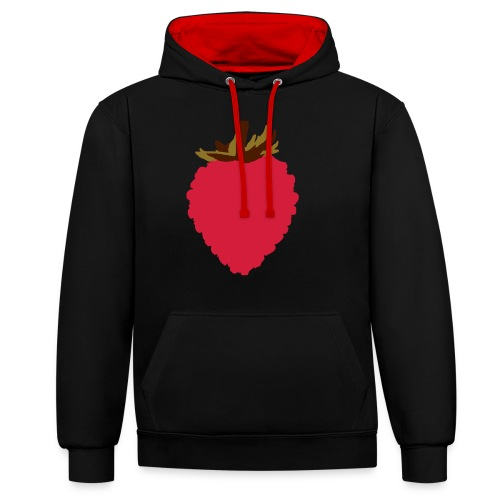 Wild Strawberry - Contrast Colour Hoodie