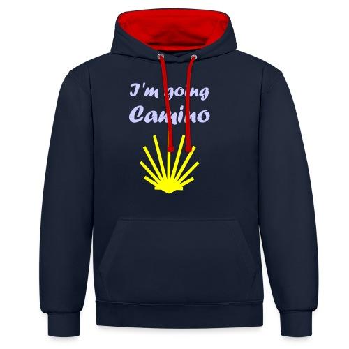 Going Camino - Kontrast-hættetrøje
