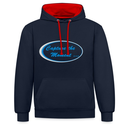 Logo capture the moment - Contrast Colour Hoodie