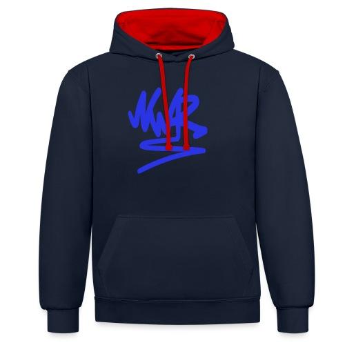 NWR blue - Contrast Colour Hoodie