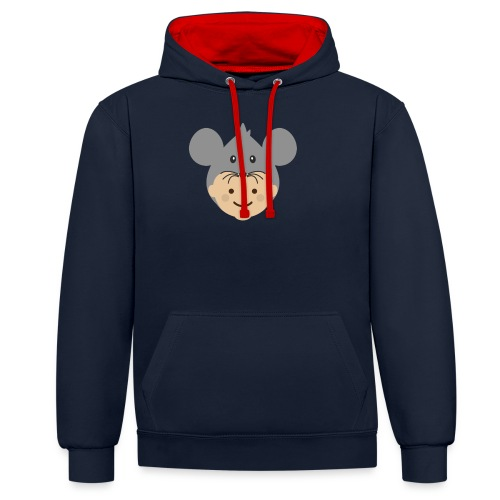 Mr Mousey | Ibbleobble - Contrast Colour Hoodie
