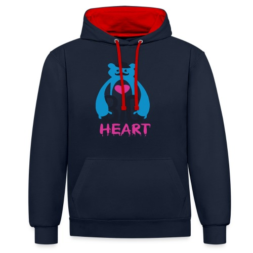 Big Heart Monster Hugs - Contrast Colour Hoodie