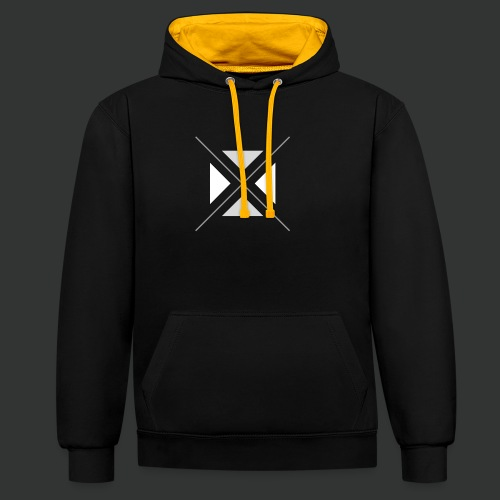 triangles-png - Contrast Colour Hoodie