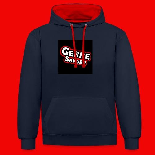 GekkeSander Logo - Contrast hoodie