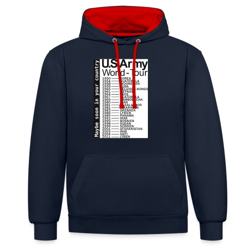 US-Army-World-Tour - Kontrast-Hoodie