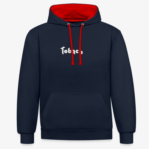 Tobach White black - Sweat-shirt contraste