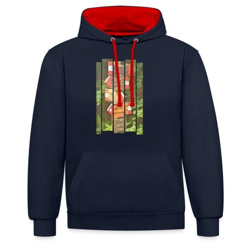 De verwarde hike - Contrast hoodie