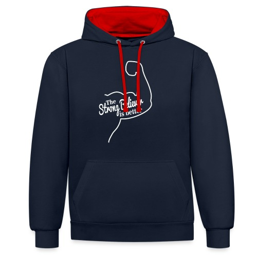 Strong - Contrast Colour Hoodie