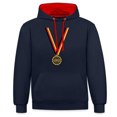 Goldmedaille Deutschland - Kontrast-Hoodie