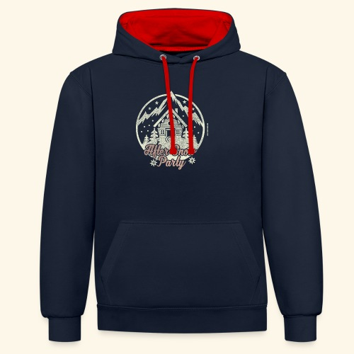 Apres Ski Party T Shirt After Snow Party - Kontrast-Hoodie