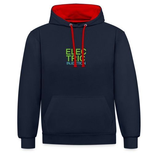 ELECTRIC INJECTION basic - Kontrast-Hoodie