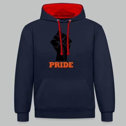 nafri fist - pride - Kontrast-Hoodie