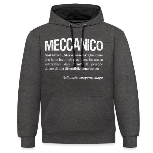 Meccanico = Mago? - Felpa con cappuccio bicromatica