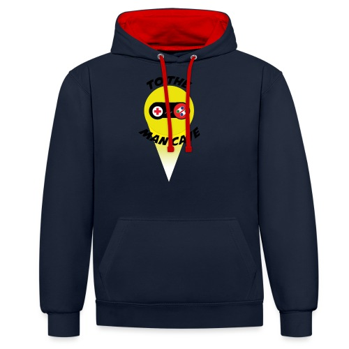 To the man cave - Contrast Colour Hoodie