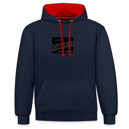 I Love Bass Players - Contrast Colour Hoodie