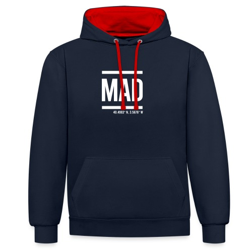 MAD Madrid Barajas International Airport - Contrast Colour Hoodie