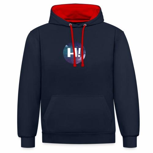 H! - Contrast Colour Hoodie
