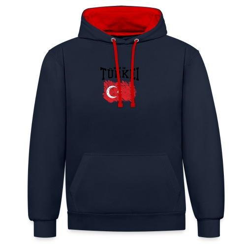 Made in Türkei - Kontrast-Hoodie