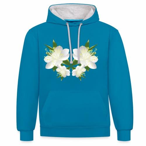 fiore del mirto sardo - Felpa con cappuccio bicromatica