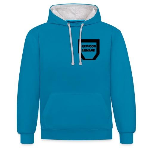 Gewoon Armand #TEAM - Contrast hoodie