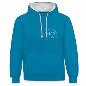 Moxi logo white - Kontrast-Hoodie