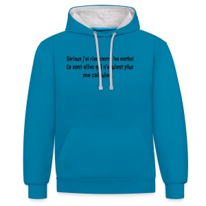 J'ai rien contre les maths!!! T-shirts,sweats - Sweat-shirt contraste